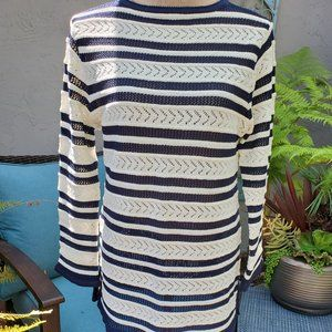 St. John Collection Nautical Knit Pullover